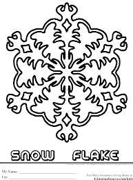 snowflake coloring pages ginormasource kids