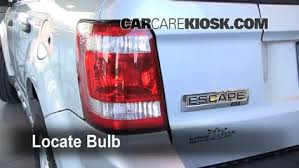 How To Replace Tail Light Tail Light Change 2005 2012 Ford Escape 2008 Ford Escape Xlt 3 0l V6