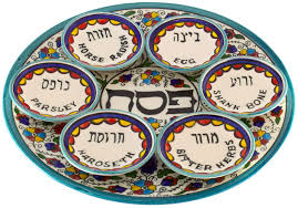 passover plate armenian ceramic seder plate with 6 bowls 30cm passover