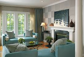 dark blue curtains living room living room traditional with window
