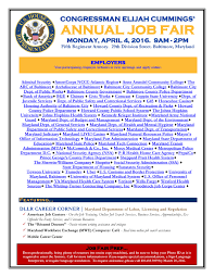 resume writing services in maryland 7th district 19th annual job fair congressman elijah cummings click