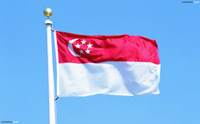 Singapur Flag The Traditional Flag Of Singapore Hd Wallpaper