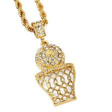 aliexpress buy nyuk gold rings bling gem nyuk pendant necklace basketball rims pendants necklaces