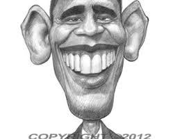 obama caricature etsy