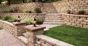 Retaining Wall Stairs Design Attractive Retaining Wall Stairs Design On Home Decorating