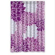 light purple shower curtain purple and light blue dahlia floral custom shower curtain pattern