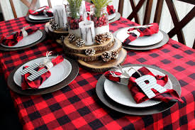 plaid christmas plaid christmas table ideas the country chic cottage