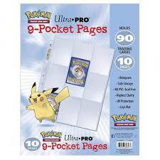 9 pocket pages tcg ultra pro 9 pocket pages kmart