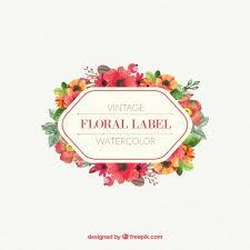 vintage design watercolor floral label in vintage design free vector design