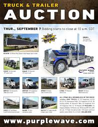 kenworth t800 semi truck truck and trailer auction in columbia missouri by purple wave auction