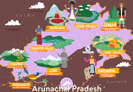 Himalayan Mts Map Arunachal Pradesh Information About Culture Map Festival