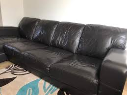 Brown Leather Sofa Dfs Dfs Caesar 4 Seater Corner Brown Leather Sofa In Richmond