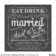stock the bar invitations stock the bar chalkboard wedding shower invitation wedding