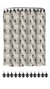 Fleur De Lis Shower Curtains Beige Shower Curtains Jacaranda Living Beige Fleur De Lis Shower