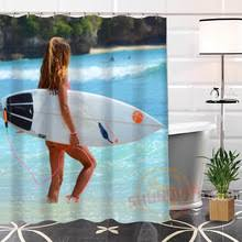 Surfer Shower Curtain Shower Curtain Lady Promotion Shop For Promotional Shower Curtain
