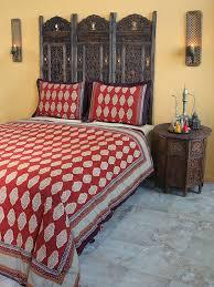 moroccan indian king duvet cover red orange cotton king duvet