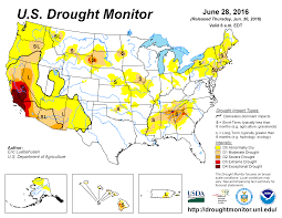california drought map january 2016 drought june 2016 state of the climate national centers for