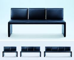 leather bench from wittmann the corso designer bench the
