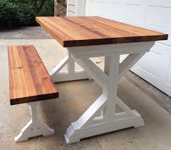 farm table with bench bench table and bench for finewood studios furniture ltd rough sawn
