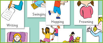 illustrated verb posters sen eal resources free early years