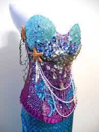 Womens Mermaid Halloween Costume Mermaid Corset Mermaid Plurangelcollection