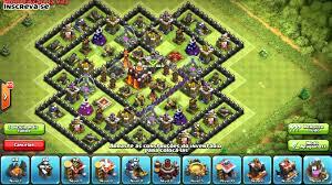layout vila nivel 9 clash of clans clash of clans melhor base de centro de vila nível 10 youtube