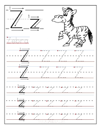 letter z worksheet for kids loving printable