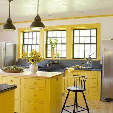 yellow kitchen cabinets design ideas