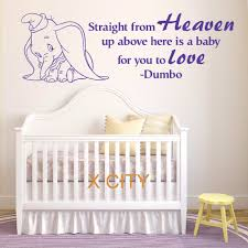 compare prices on baby room stencils online shopping buy low dumbo the elephant straight from heaven vinyl wall art baby room sticker nursery decal door window