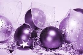 pretty purple things ornaments on we it