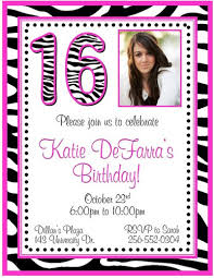 20 sweet sixteen birthday invitations with photo several styles