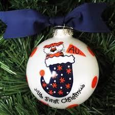 auburn tiger boy ornament for