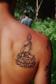 nice spiritual buddha on lotus tattoo golfian com