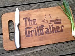 the grill father engraved cutting board 14 x 7 5 gift for dad