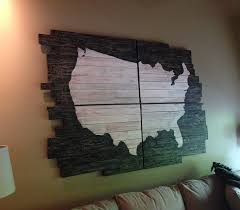 pottery barn usa map wall chic wooden usa map wall fancy