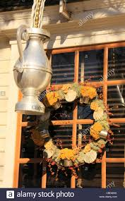 decorations colonial williamsburg virginia usa stock