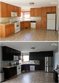 Ugly Kitchen Cabinets Use Contact Paper To Refinish Cabinets Temporarily While Renting