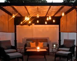 Hanging Patio Lights by Outdoor Lighting Etsy