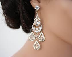 rhinestone chandelier earrings chandelier earrings large statement wedding earrings wedding
