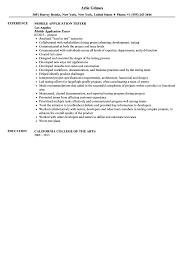 Business Analyst Mobile Application Resume Mobile Application Tester Resume Sample Velvet Jobs