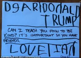 american children write letters to donald trump teaching him about