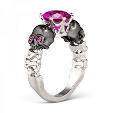 skull wedding ring sets skull wedding rings wedding rings womens skull wedding rings