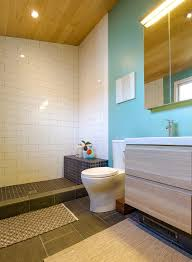 bungalow bathroom rustic with double sinks serving tray sets