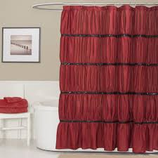 Shower Curtains With Red Twinkle Shower Curtain