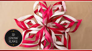 how to make 3d paper snowflake decorations out of paper diy