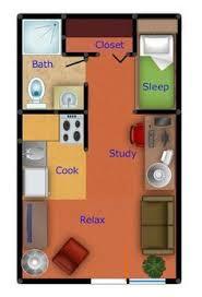 Small Apartment Floor Plans One Bedroom Best 25 Studio Apartment Plan Ideas On Pinterest Studio
