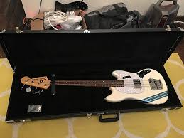 pawn shop mustang bass 2013 fender pawn shop mustang bass olympic white upgrades reverb
