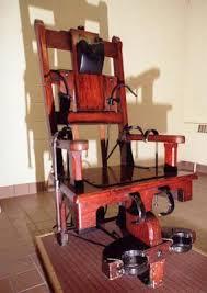 execution chaise electrique principe et procédure de la chaise électrique de sur la