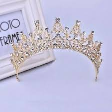 prom jewelry baroque gold bridal girl prom jewelry rhinestone crown tiara comb