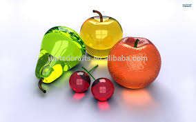colored wholesale antique artificial glass fruit and vegetables